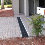 Driveway - channel drain (After)