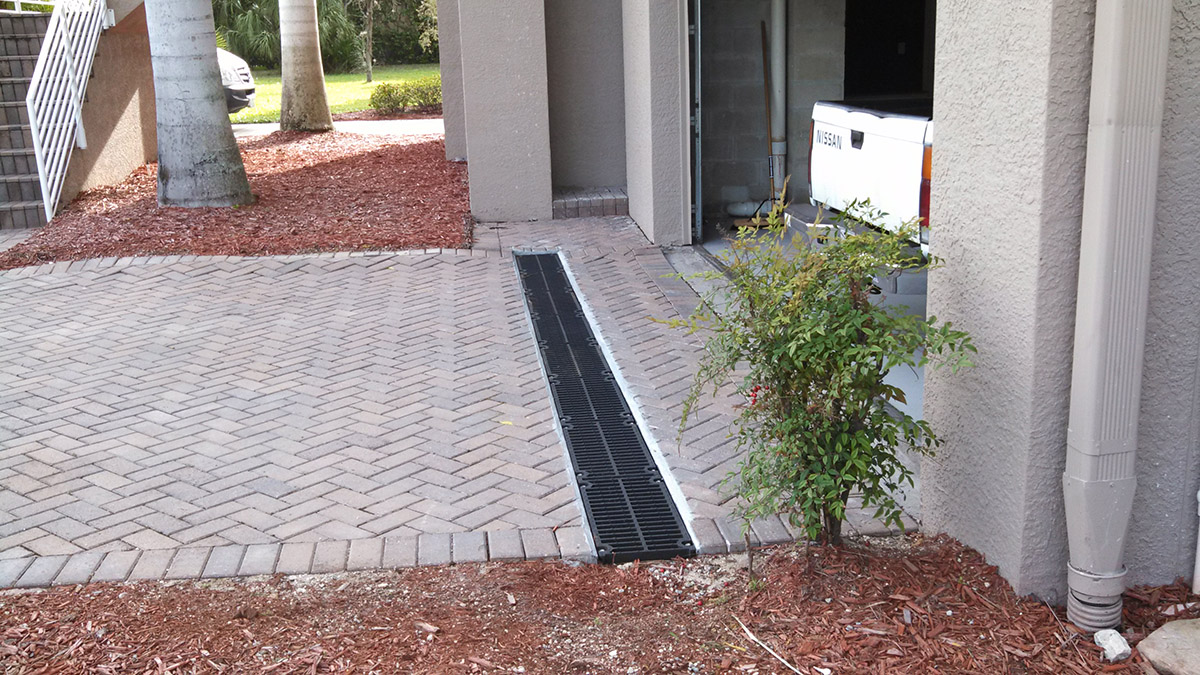 Location of a french drain french drain construction for Residential french drain