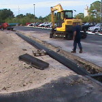 Parking Lot Drainage - During