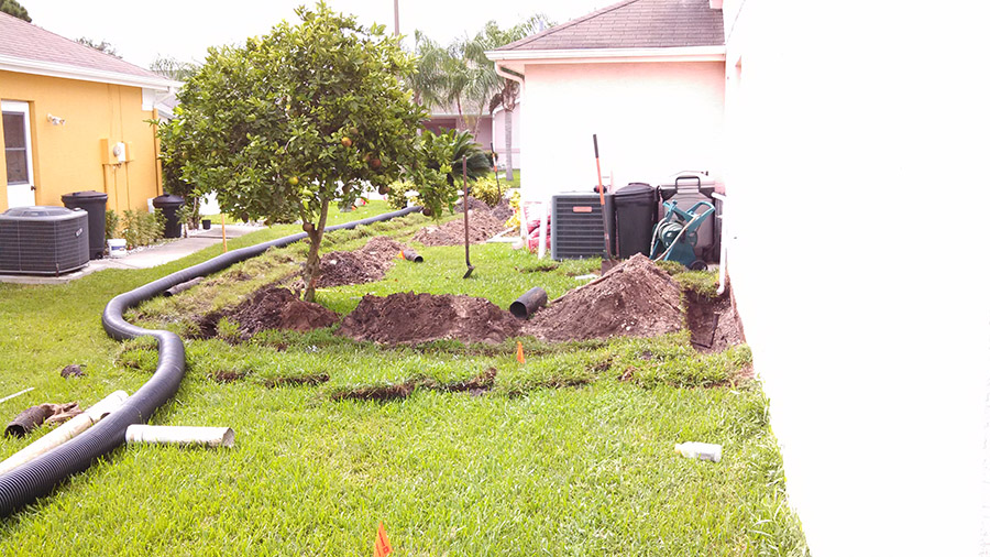 French drains drainage systems drainage contractor for Residential trench drain systems